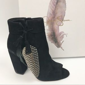 New Jessica Simpson Kailey Sexy Open Toe Bootie 5